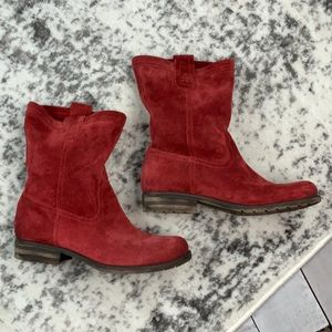 Naturalizer Shoes - Naturalizer Basha red suede slouch boots